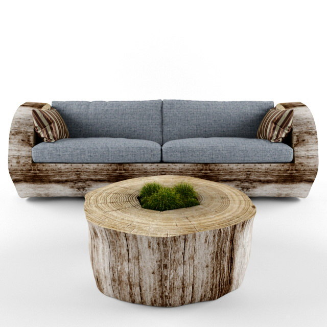3d model sofa