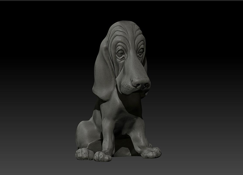 3d model basset hound dog