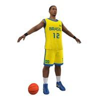 brazil basketball player ball 3d max