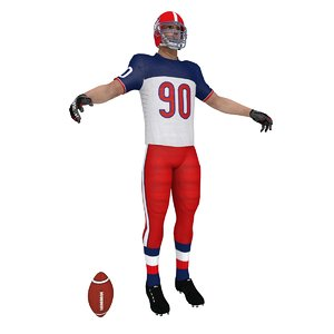 american football player obj