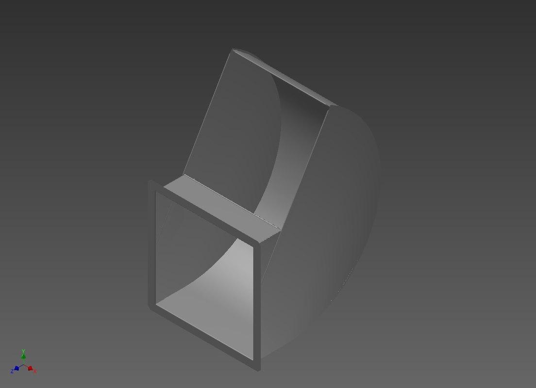 3d model of grain vent hood