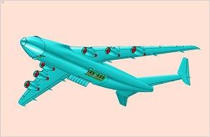 an-225 mriya strategic cargo 3d 3ds