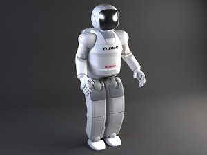 honda asimo robot 3d model