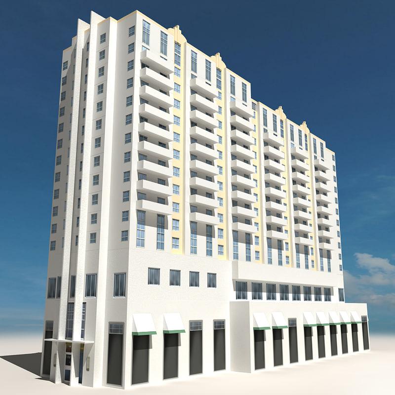 beach building 06 houses 3d 3ds