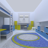 3ds max kids room