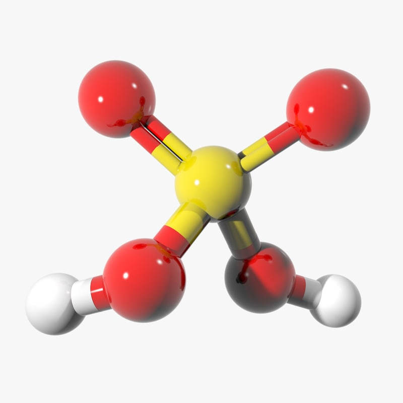 3ds sulfuric molecule structure