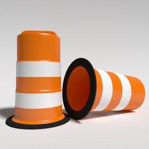 3d model construction barrels