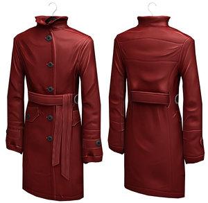 3d model women s rain coat