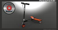 3d model razor scooter