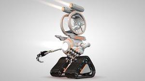 robot 04 cockpit 3ds free