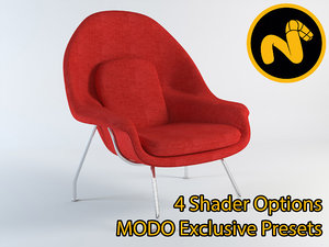 3d saarinen womb chair model