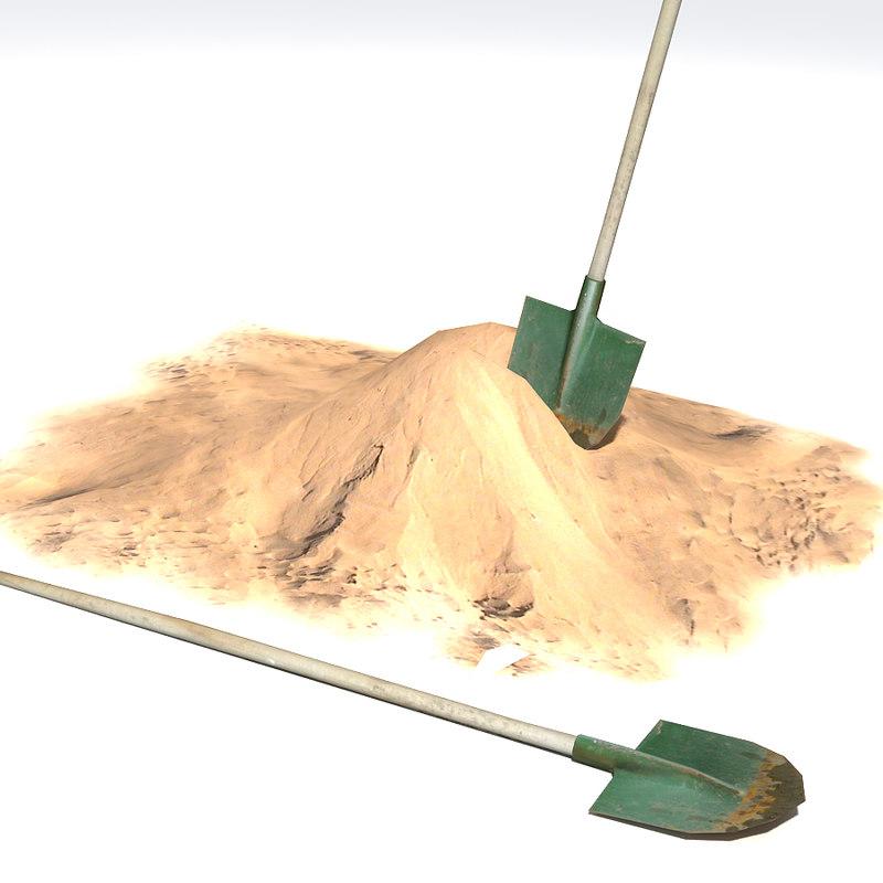 3d sand shovel