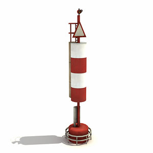 3d low-poly big port light model