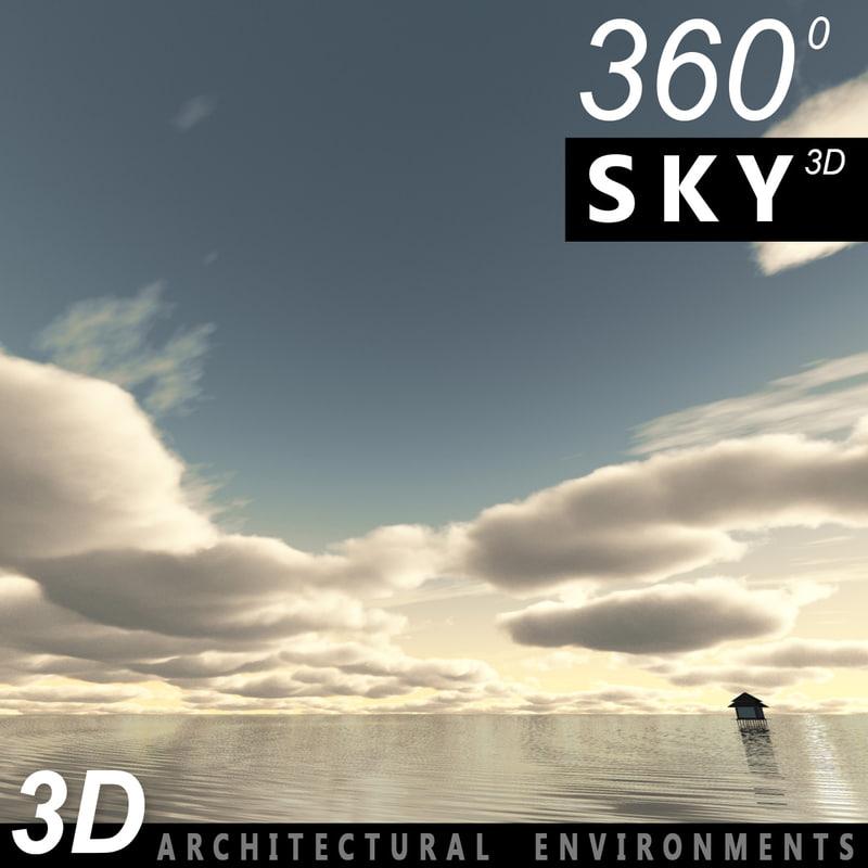 sky clouds 3ds