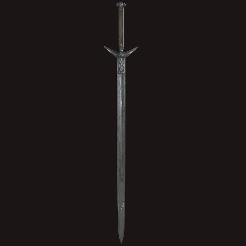 sword 3d obj