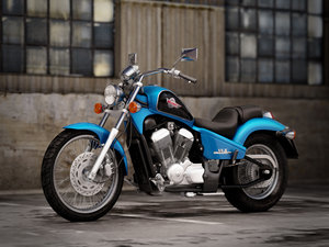 3d model honda shadow vlx