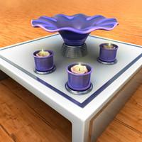 3d model stand vase candle holder
