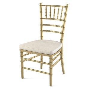 3d wedding chair chiavari