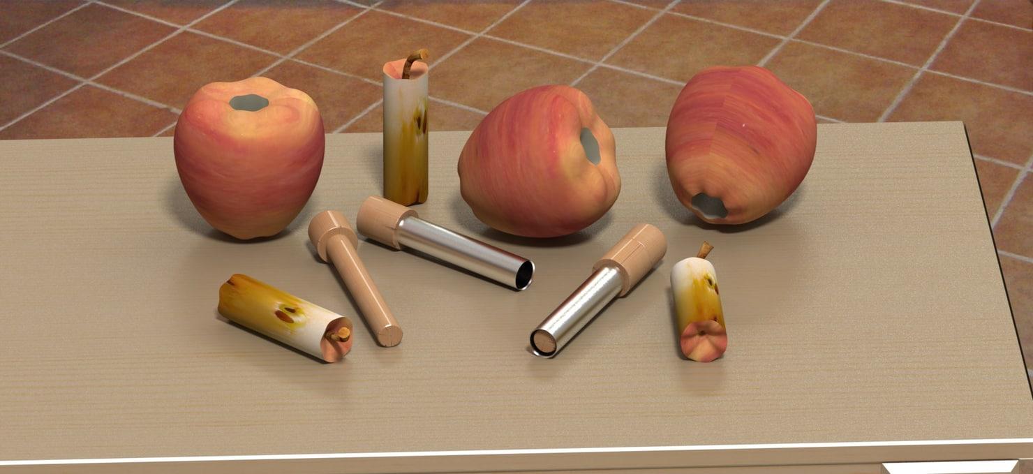 apple corer core 3d 3ds