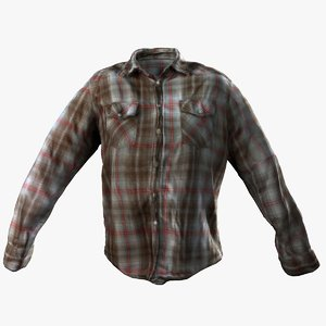 dxf scanned button plaid shirt