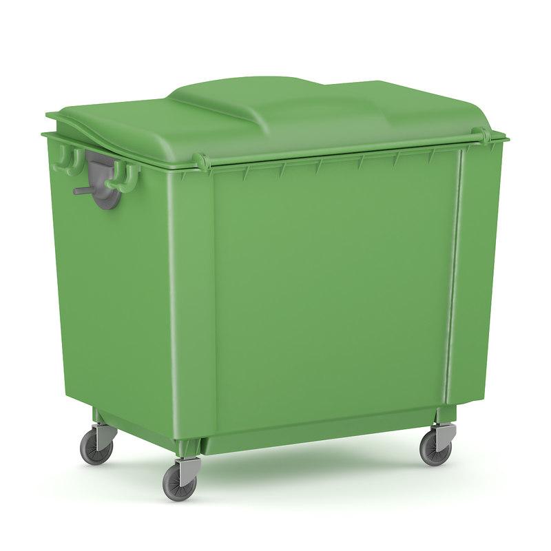 green garbage 3d model