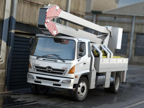 hino 500 truck 3d model