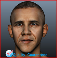 3d obama head