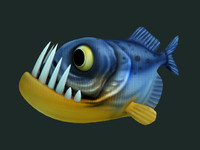 Cartoon of piranha