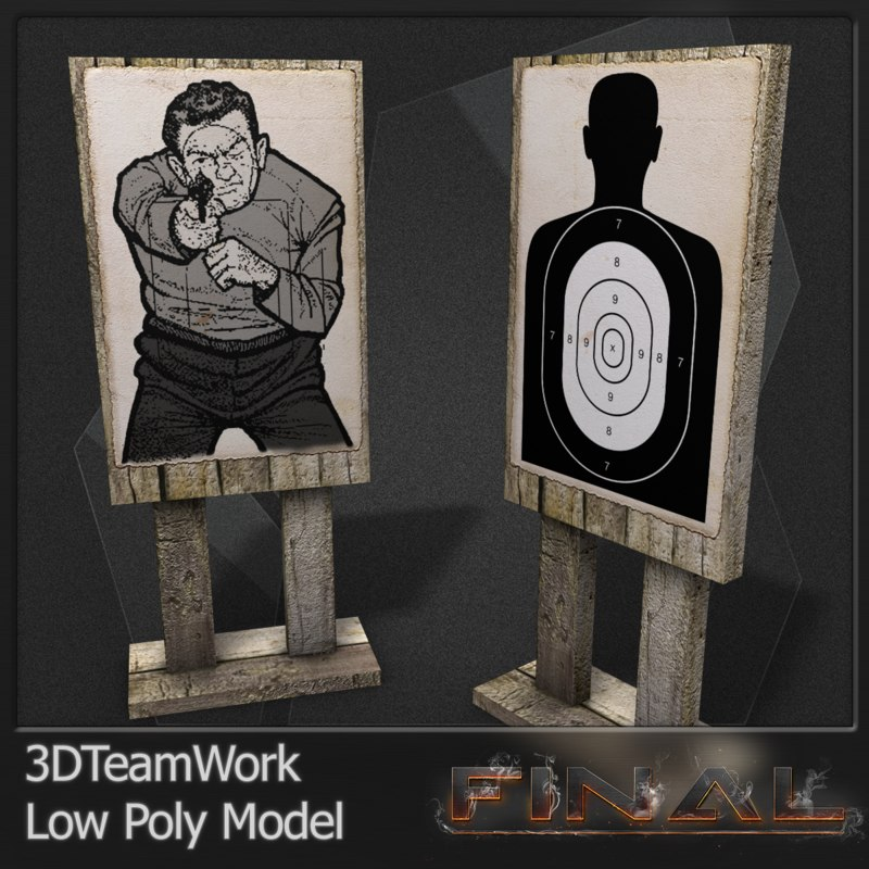 final silhouette targets 3d model