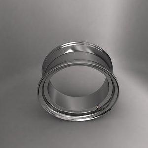3d model alloy wheel ring