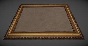 old painting frame obj