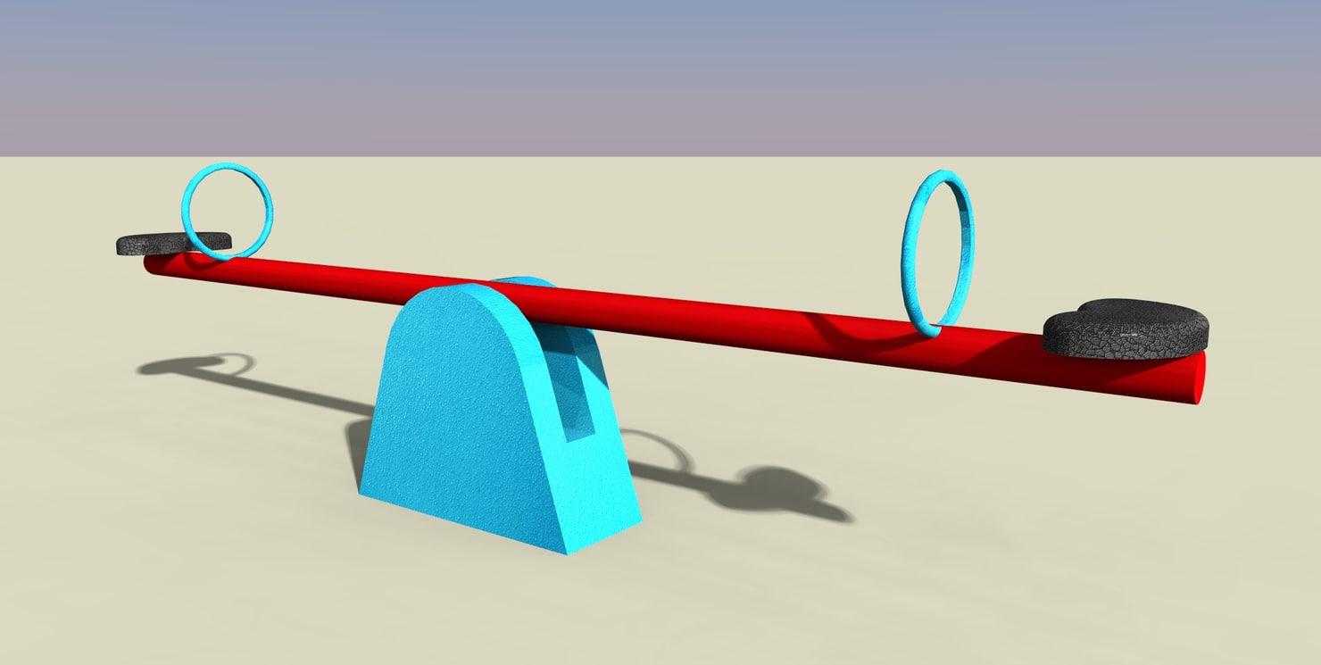 3d seesaw saw
