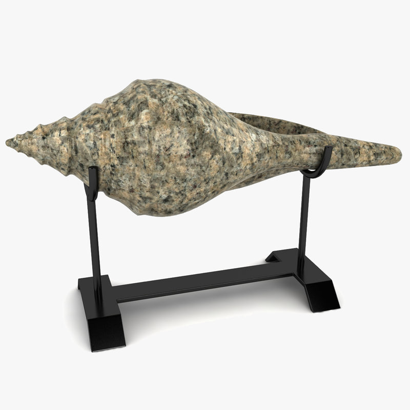 shell sculpture stand 3d model
