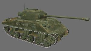 sherman firefly tank tracks obj