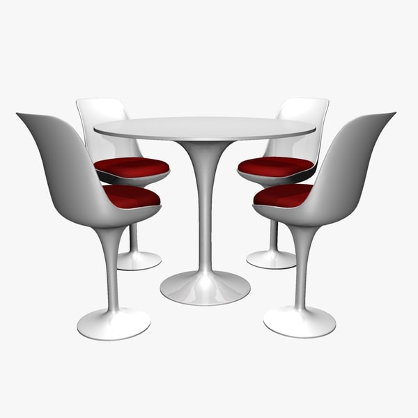 3d max retro highboy table chairs