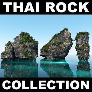 3d thailand rocks