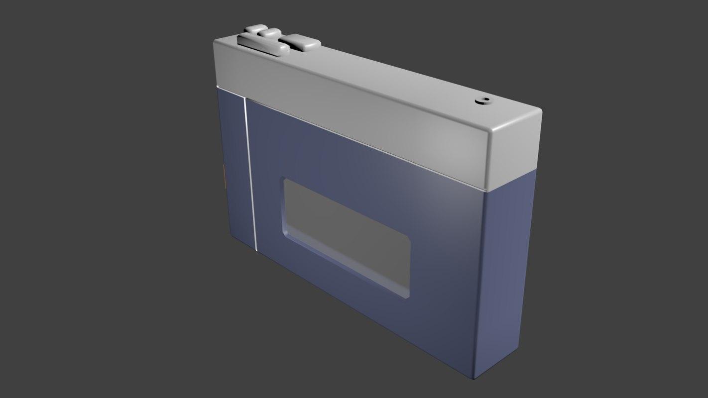walkman cassette player 3d blend