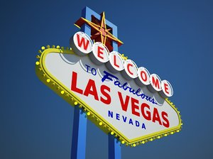 las vegas welcome sign 3d model