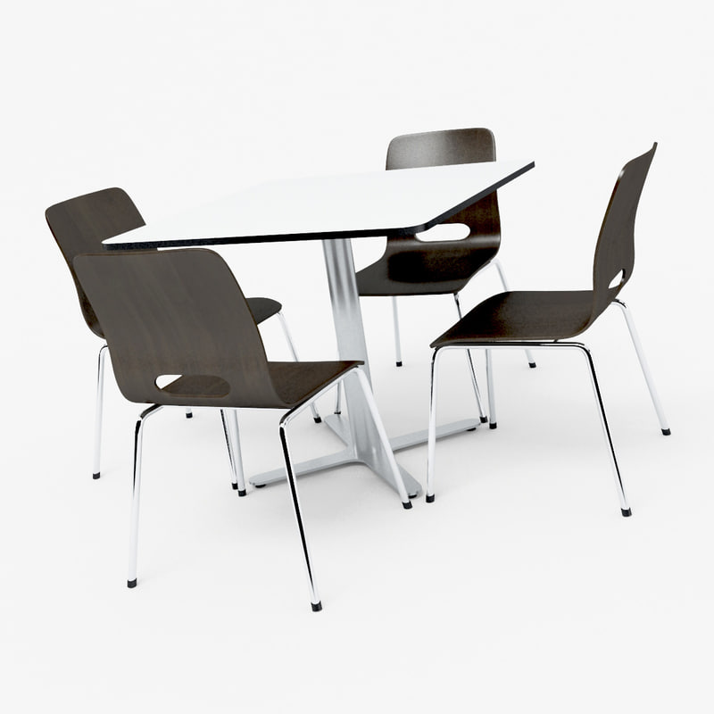 3ds modern table chairs