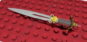 vintage knife cutting obj free