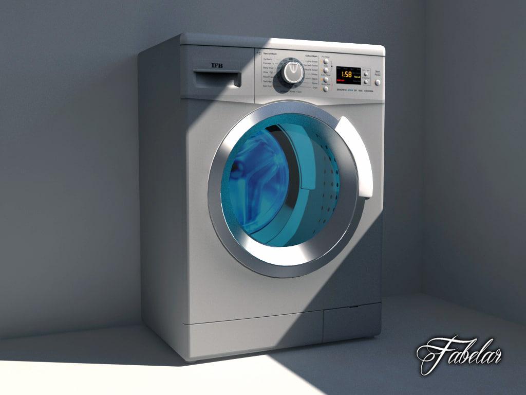 ifb washing machine 3d max