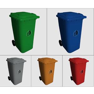 bin waste 3d max