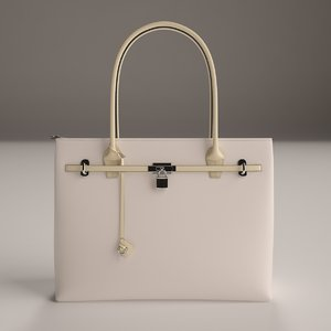 3d model luxury ladies handbag