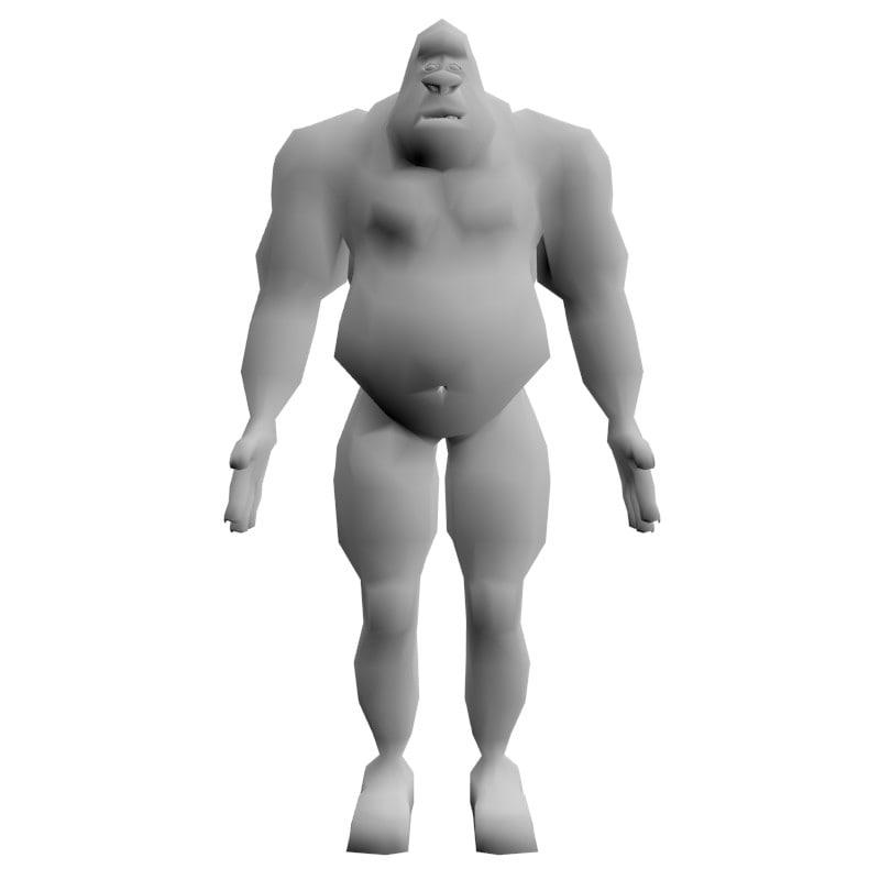 3d cartoon characters model