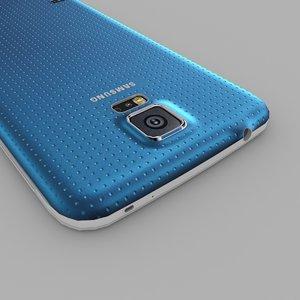3d samsung galaxy s5 blue