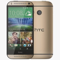 htc mini 2 amber 3d 3ds