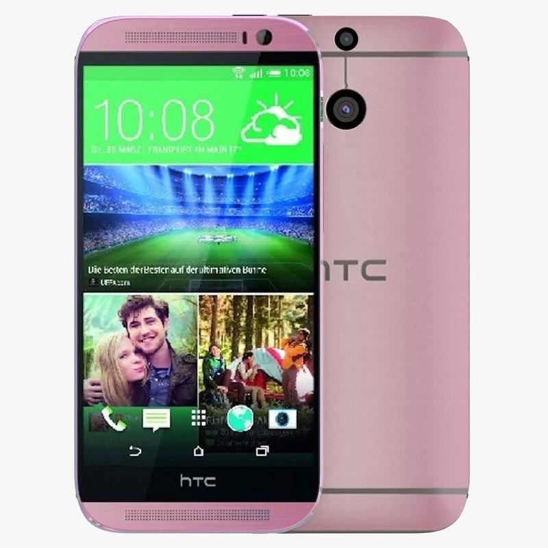 htc m8 pink 3d c4d