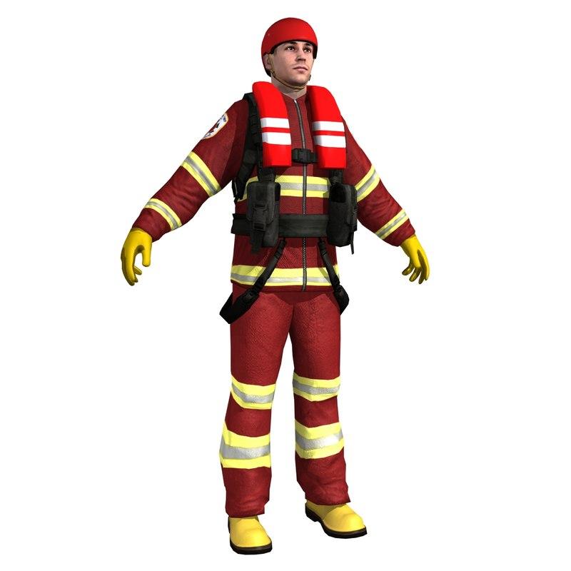 3d rescue sea guard model