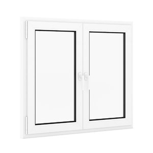 3d max openable plastic window 1322mm
