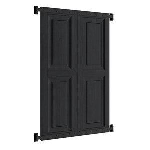 3d black shutter model